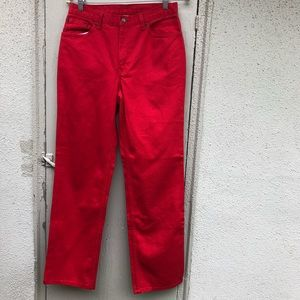 [vintage] 90s cherry red deadstock jeans